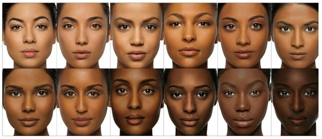bronzage dore peau mate